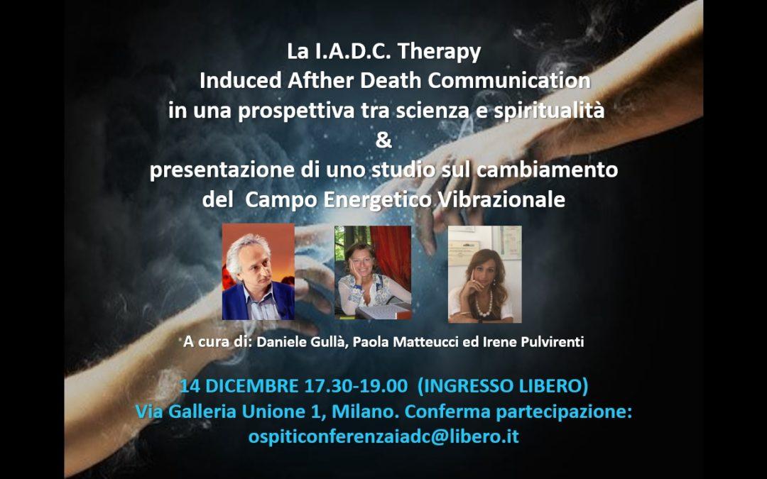 Conferenza I.A.D.C. Therapy 14 Dicembre a Milano
